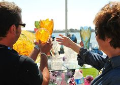 ArtWalk on the Bay. The annual outdoor ArtWalk on the Bay, in San Diego's Little Italy district, is a two-day juried art festival where over 350 of the region's artists showcase creations.