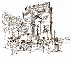 Arc de Triomphe Paris by James Richards fasla, via Flickr