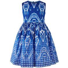 Printed poplin dress - 123044