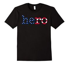 American Hero military and veteran t-shirt from SportzTeez Apparel. The perfect gift for the military hero in your life.