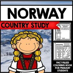 Norway Country Study Mini Book Unit by Creative Classroom Core Fun Facts About Norway, Coloring For Kids, Coloring Books, Norway Country, Norway Girls, Norwegian Flag, Class Activities, Thinking Day, Mini Books