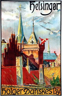 Vintage Travel Poster - Helsingør - Denmark - 1935.