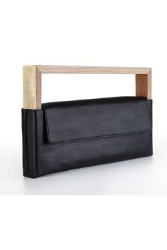 noritamy wood / leather clutch Leather Bag http://inspiretomake.com https://youtube.com/inspiretomake #inspire_to_make #inspiretomake