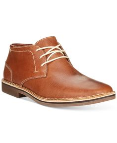Kenneth Cole Reaction Desert Sun Leather Chukka Boots - All Men's Shoes - Men - Macy's