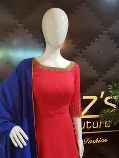 Punjabi Suit Neck Designs, Salwar Neck Designs, Sari Blouse Designs, Kurta Designs Women, Bridal Blouse Designs, Pakistani Dress Design, Indian Anarkali Dresses, Salwar Dress, Salwar Suits