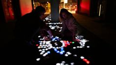 CRYSTAL Interactive crystals of light by Daan Roosegaarde. www.studioroosegaarde.net - CRYSTAL are hundreds of crystals of light which brigh...