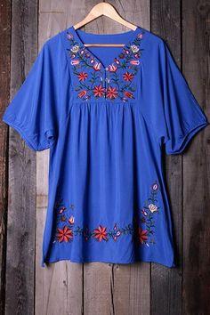#AdoreWe #CupShe CUPSHE❤️Designer Womens Free Spirit Floral Embroidery Dress - AdoreWe.com