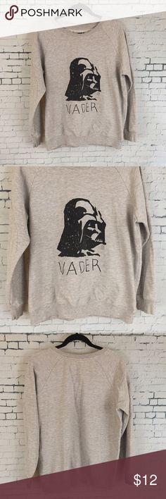 Star Wars Darth Vader Sweatshirt Girls size xl Sweatshirt  Underarm to underarm : 22.5 in  Length 26 in   Gray Star Wars Sweatshirt super cute can fit an adult size s-m Star Wars Sweaters