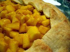 Spicy mango galette