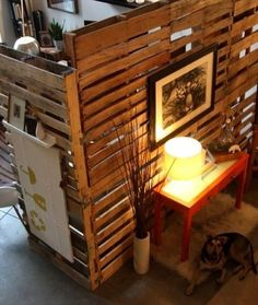 Pallet Room Dividers - would be a great way to give the girls their own 'space' in a shared bedroom.