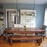 New 8ft. kitchen table.  Dig the farmhouse thing... but not too rustic.