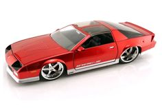 Camaro IROC  Jada Toys, Inc Item No.: 91283 Brand: BIGTIME Muscle Category: Die Cast Scale: 1:24  Year: 1985 Make: Chevy Class: Coupe Paint: Red