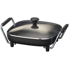 The Rock By Starfrit The Rock By Starfrit Electric Skillet - Patented nonstick technology Easy to clean, dishwasher safe 1,200W Cast-aluminum body Adjustable temperate control Tempered glass lid Cool-touch Bakelit(R) handles ETL certified Exclusive design