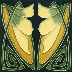 Golem Kunst- und Baukeramik GmbH | Art Nouveau tiles decorated | Art Nouveau tiles5:
