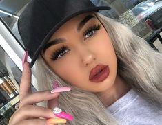 ღ sαℓσмé ∂єsєrτ ღ Beautiful Eyelashes, Lipstick, Makeup, Beauty, Make Up, Face Makeup, Lipsticks, Diy Makeup, Maquiagem