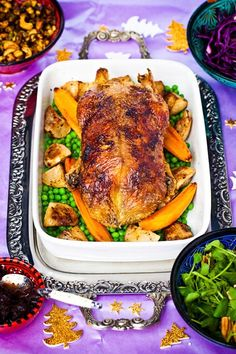 Roast Duck with Orange and Cranberry Sauce #glutenfree #grainfree #ArtofEatingWell