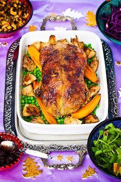 Hemsley & Hemsley: Roast Duck With Cranberry & Orange Jam Sauce (Vogue.com UK)