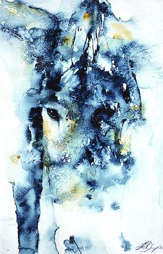 Sandra Binney watercolor | amazing how the eye makes the whole abstract painting come together Watercolor Animals, Watercolor Paintings, Watercolours, Equine Art, Animals Images, Horse Art, Colorful Pictures, Pastel, Cool Artwork