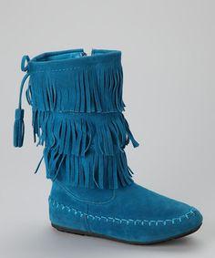 Blue Katherine Fringe Boot (Toddler) by Link #zulily