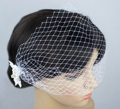 low postage to worldwide, we provide excellent professional package.        This item is original designed by us. Inatoz owns the design. Please contact us if you are interested in our brand and re-sale our products.    This item is 100% brand new and handmade.        It is a special satin made lace Veil fascinator bridal birdcage, easy to wear and match your hair style.                        It is perfect for your themed party, it can matches with your party gown / party costume…