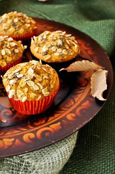 Pumpkin Oats Muffins with Cranberries and Chia seeds