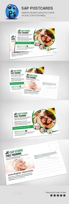 spa beauty post card templates