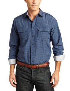 Dockers Men's Long-Sleeve Field Escobar Mini Check Shirt $20.57