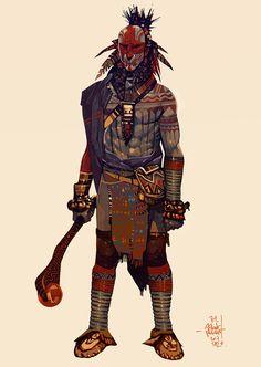 Fighter by Jakub Rebelka on ArtStation Character Creation, Character Concept, Character Art, Concept Art, Character Ideas, Medieval Fantasy, Dark Fantasy, Fantasy Art, Dnd Characters