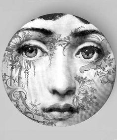 Tatoo No.1 original melamine plates with a Lina by TheMadPlatters