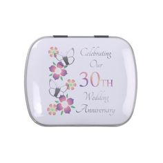 #flower - #Elegant 30th Anniversary Jelly Belly Tin