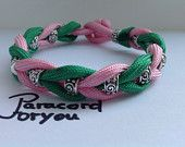 Silver Tubes Snake -  Paracord Bracelet with a Knot - Handmade - Military Paracord - Mil-C-5040 type 3