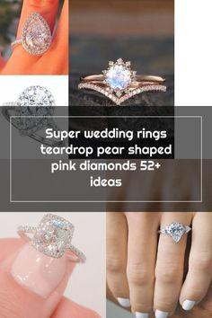 Super wedding rings teardrop pear shaped pink diamonds 52+ ideas Wedding Rings Teardrop, Pink Diamonds, Pear Shaped, Diamond Earrings, Shapes, Engagement Rings, Crystals, Ideas, Jewelry