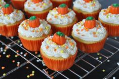 Halloween Party Recipes orange scary muffin