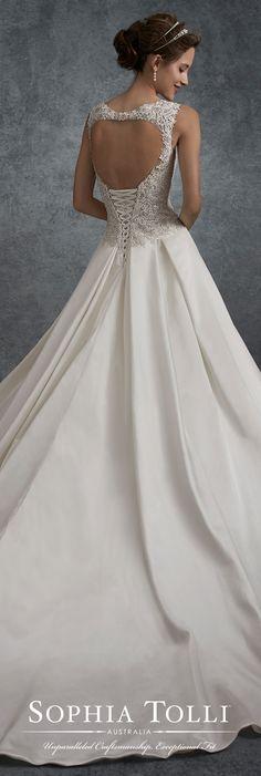 Magnífico vestido de novia