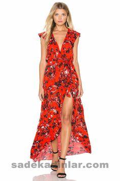 919200cc rote sommerkleider lang - Uzun Elbise Modelleri, red summer dresses long  Coco Chanel, Maxi