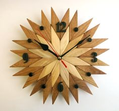 *******CHRISTMAS SALE for this clock 20 %************************* ----------------Coupon code HOLIDAYS20-------------------- Wall wooden clock is