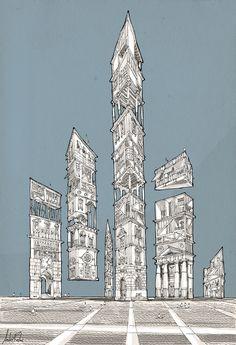Barragán Utopia / andre rocha illustration