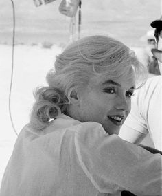 Marilyn Monroe on the set of The Misfits, 1960.