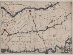 Kaart, voorstellende de graafschappen Buren en Culemborg, ingekleurdfe gravure, niet gesigneerd, 18e eeuw | Collectie Gelderland 1700-1800