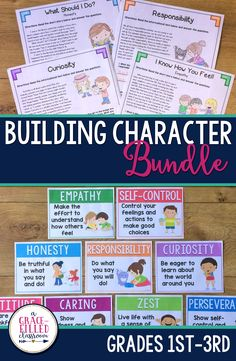 These character education posters and passages will help your students better understand how building a strong character can help them succeed in the future!