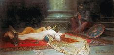 Ferencz-Franz Eisenhut - Before Punishment - Category:Harems in orientalist paintings - Wikimedia Commons