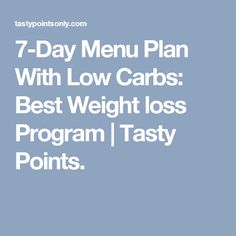 Basic Diet Plan For Weight Loss