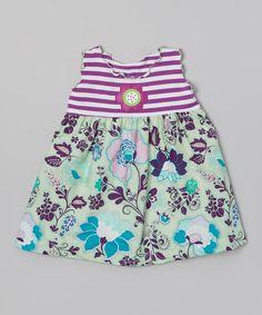 Another great find on #zulily! Purple & Sage Flower Babydoll Top - Toddler & Girls by Tutu & Lilli #zulilyfinds