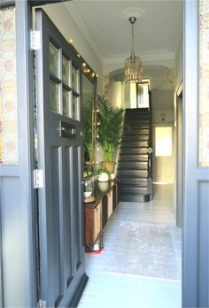 Botanical Influences in an Entrance Hallway – Edna & Ossie - Best Halway ideas Victorian Hallway, Entrance, Improve Yourself, Stairs, Ideas, Home Decor, Parquetry, Entryway, Stairway