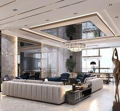 How Japanese Interior Layout Could Boost Your Dwelling Luxury Modern On Behance Ceiling Design Living Room, Family Room Design, Interior Design Living Room, Living Room Designs, Living Room Decor, Plafond Design, Luxury Interior Design, Luxurious Bedrooms, Living Room Modern