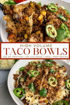 High Protein Meal Prep, High Protein Recipes, Healthy Meal Prep, High Protein Dinner, Healthy Tacos, Lunch Meal Prep, Meal Prep Bowls, Simple Meal Prep, High Protein Lunch Ideas