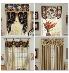 Waverly B4373 Printable Pattern Available Window Treatments Valance Patterns Brackets Home Room Design