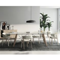The Connection Glass Top Dining Table is a great example of all that Huppé is capable of. http://www.yliving.com/huppe-connection-glass-top-dining-table.html
