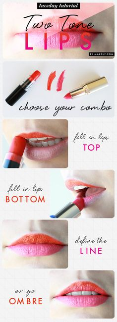 how to: two tone lips // loving this summer makeup trend!