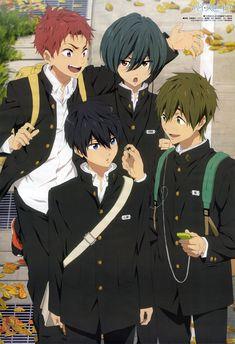Kyoto Animation, Free!, Nanase Haruka (Free!), Tachibana Makoto, Shiina Asahi, Kirishima Ikuya